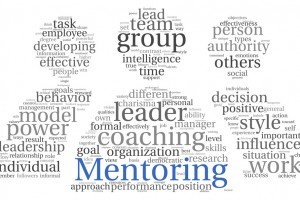 Mentoring concept in word tag cloud